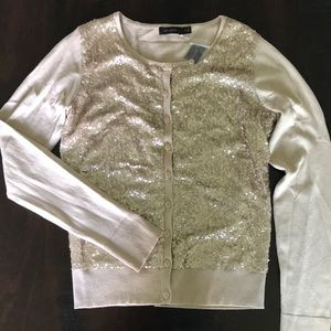 NWT Gold Sequin Cardigan - The Limited - Size Med.